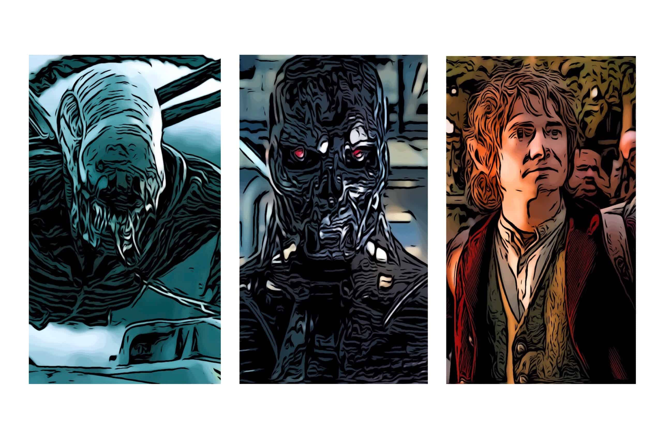 Alien, Terminator, and The Hobbit, from the best movie trilogies.