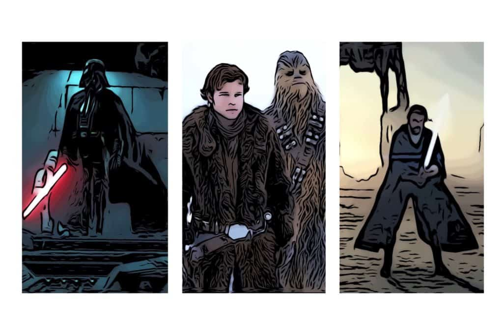 3 of the Star Wars movies in chronological order