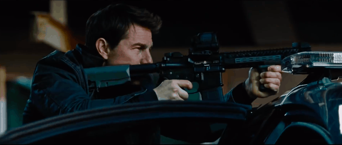 Big shootout in one of the Jack Reacher movies.