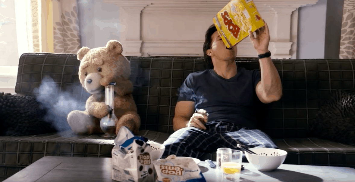 A scene from Ted in the best movies to watch stoned