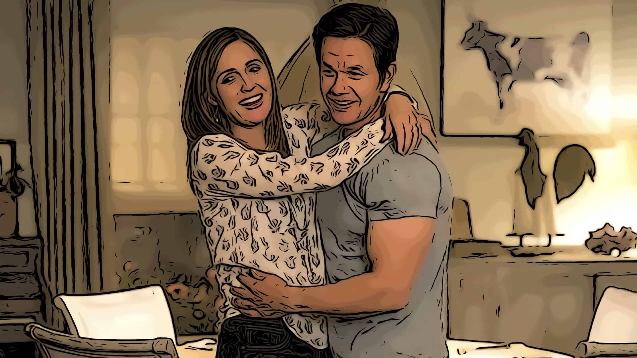 Scene from Instant Family for best movies about adoption post.