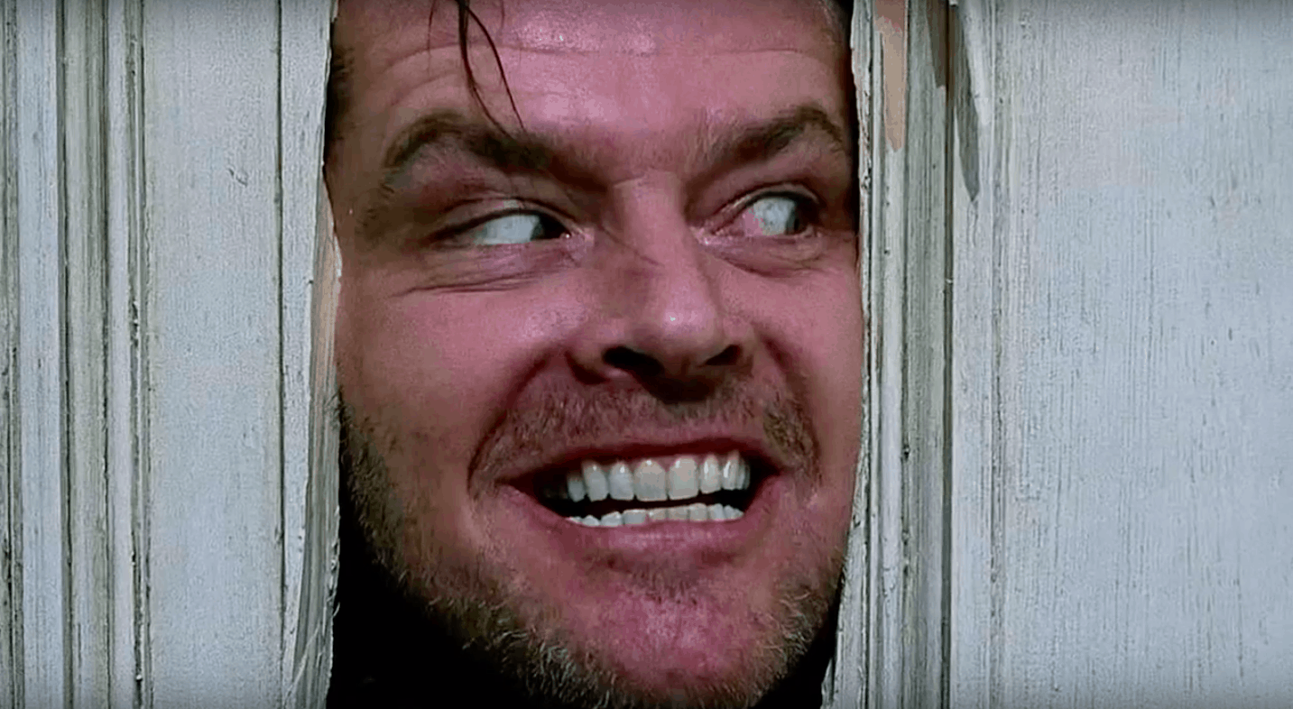 Here's Johnny scene from The Shinning in the Stephan King Movie List