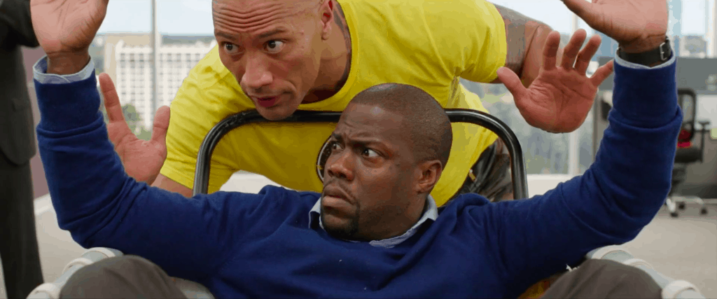 Central Intelligence scene in the Rock and Kevin Hart movies