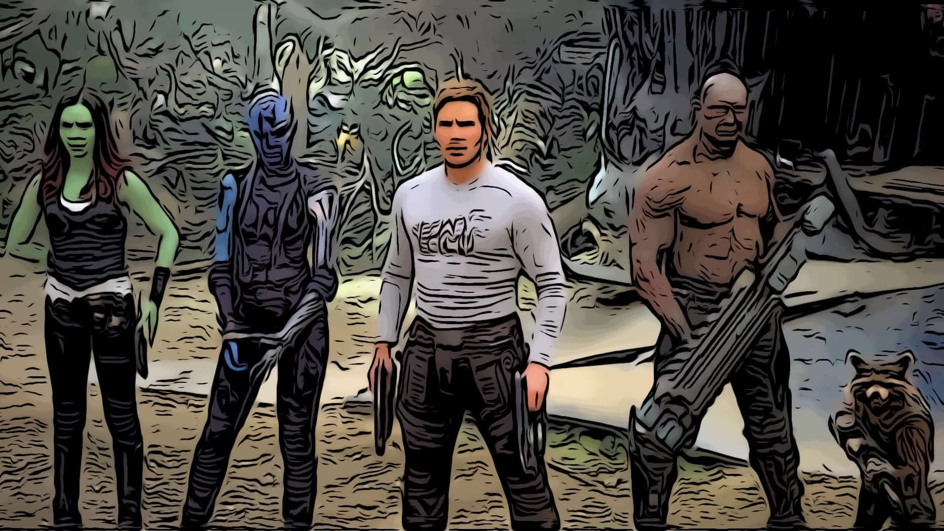 Scene in Guardians of the Galaxy 2 for Guardians of the Galaxy 2 easter eggs post.