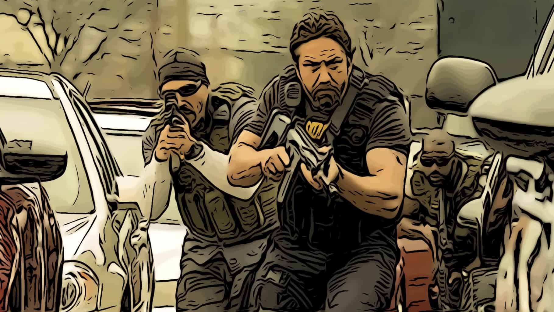 Scene in Den of Thieves for best bank robbery movies post.