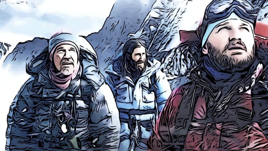 Scene from Everest for mountain climbing movies post.