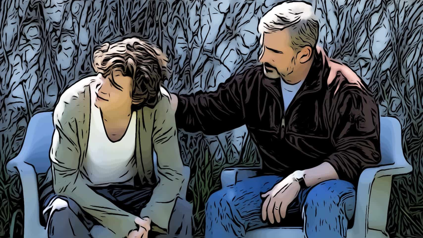 Scene from Beautiful Boy for movies about drug addiction post.