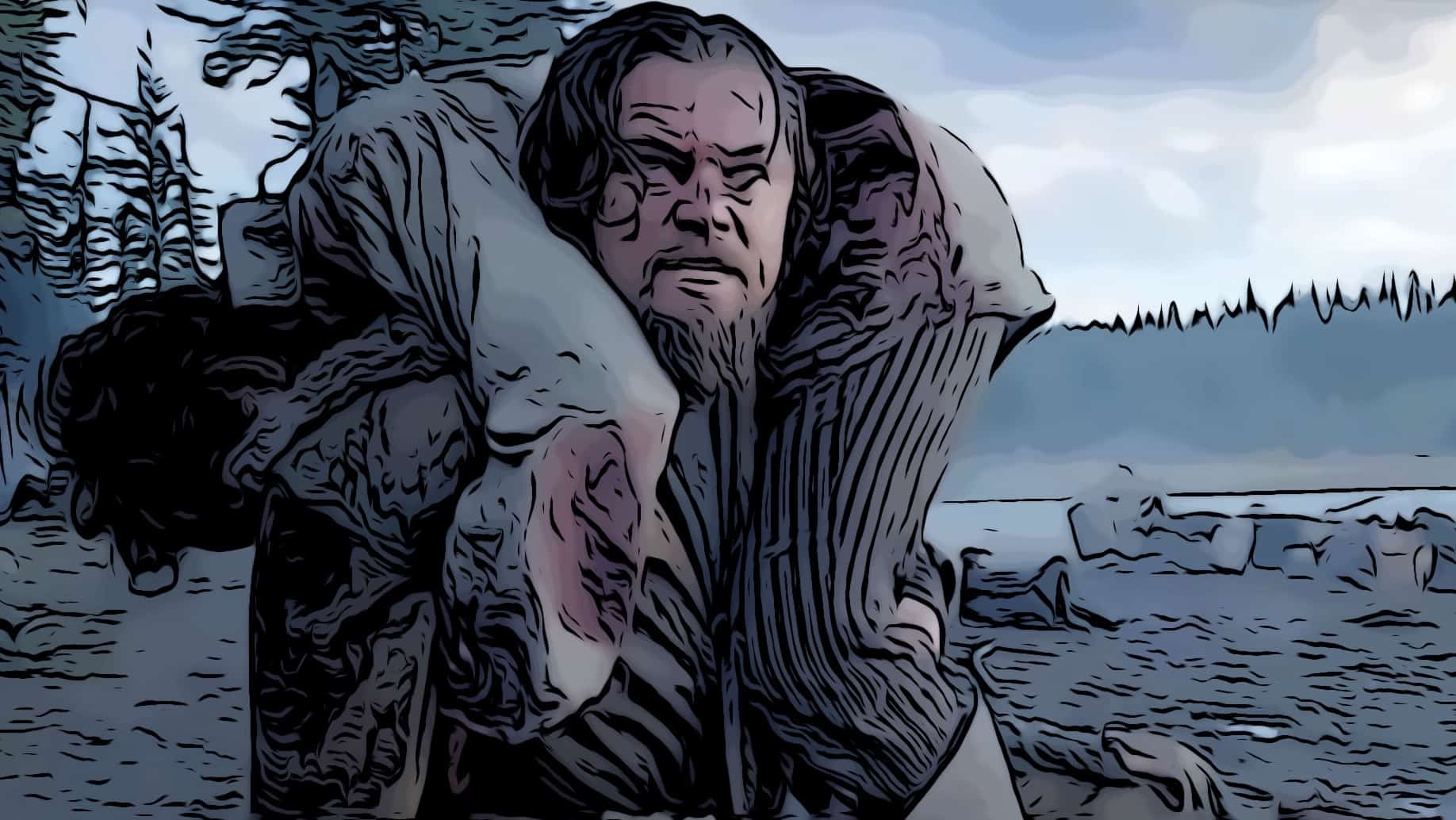 Scene from The Revenant for best survival movies post.