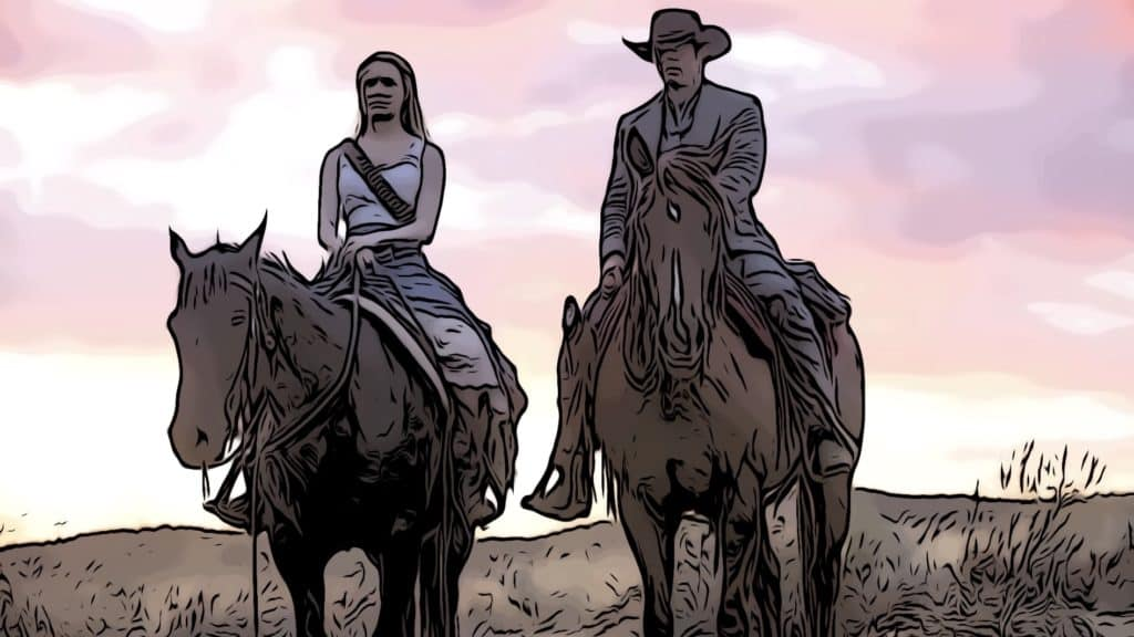 Scene from Westworld for where was westworld filmed post.