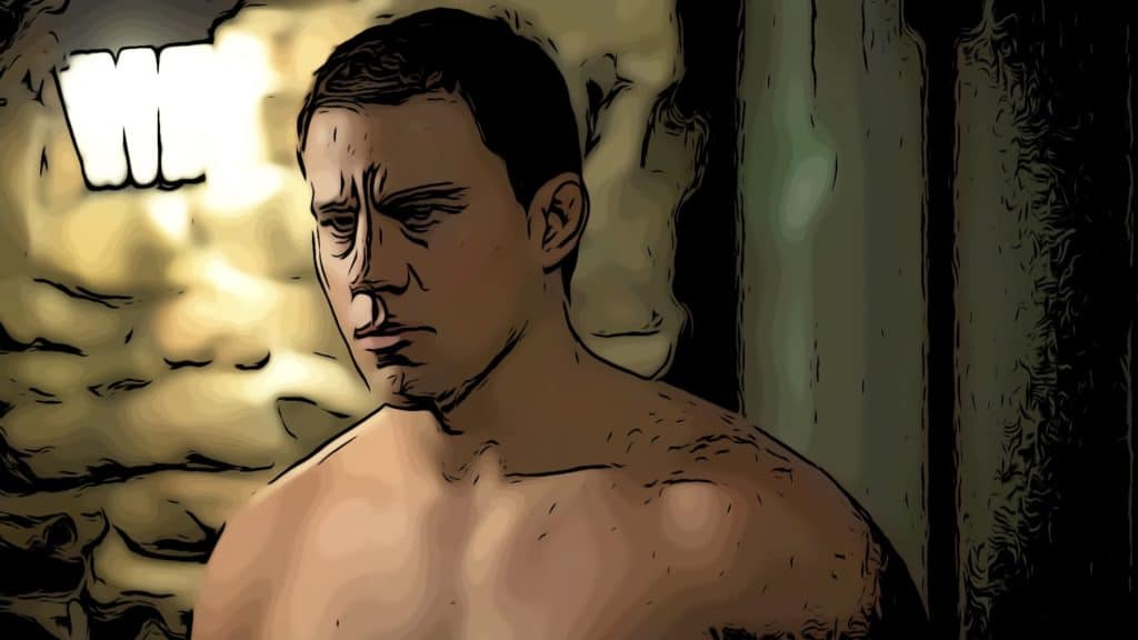 Scene from Foxcatcher for Channing Tatum movies post