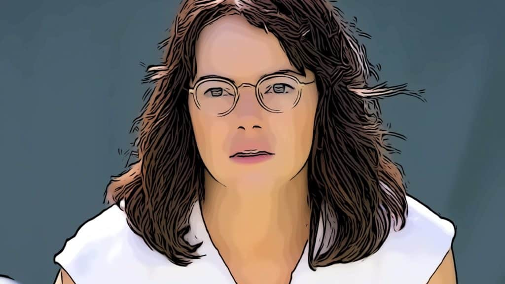Scene from Battle Of The Sexes for Emma Stone movies post.