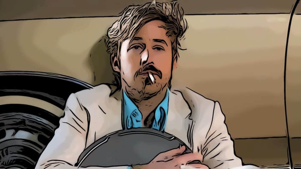 Scene from The Nice Guys for Ryan Gosling movies post.