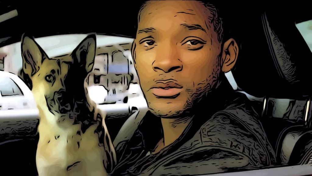 Scene from I Am Legend for Will Smith movies post.