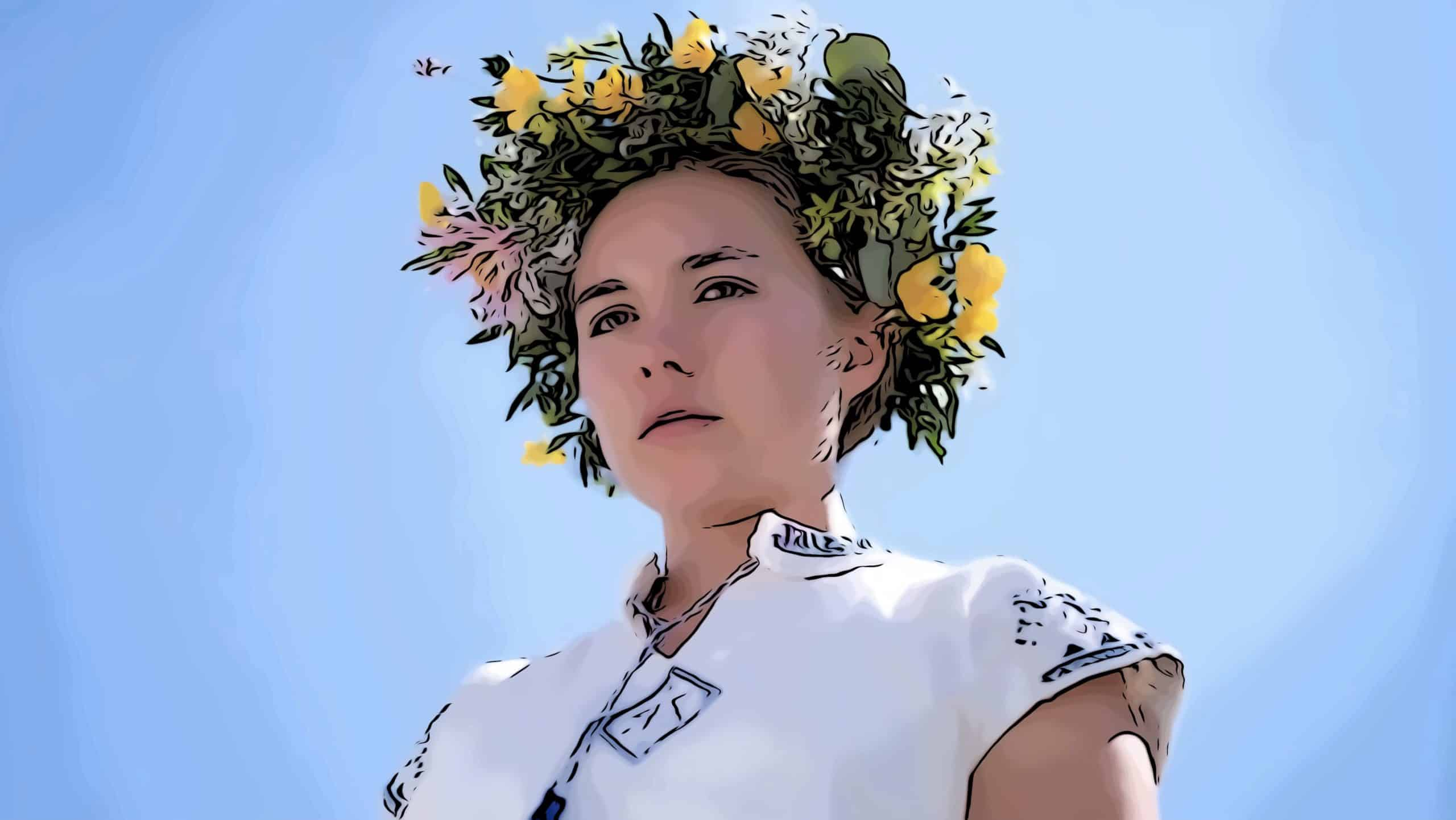 Scene from Midsommar for movies like Get Out post.