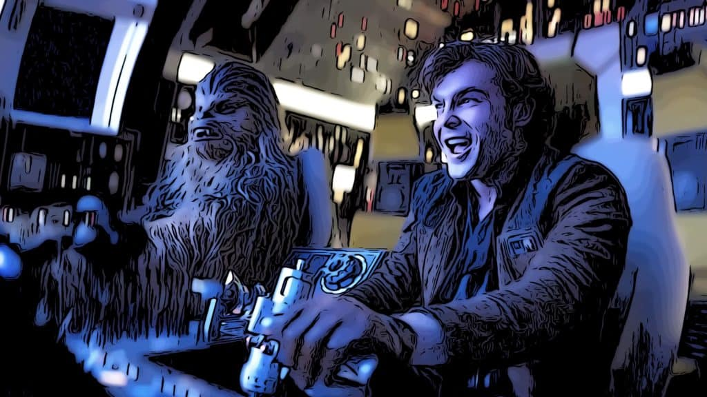 Scene from Solo for adventure movies on Netflix post.