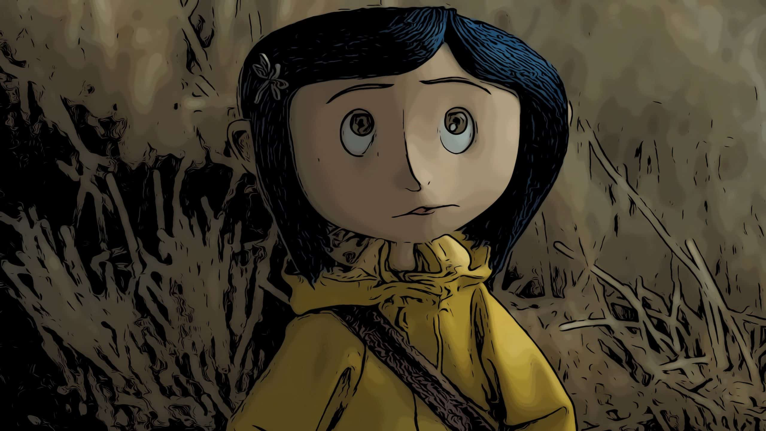Scene from Coraline for animated horror movies post.