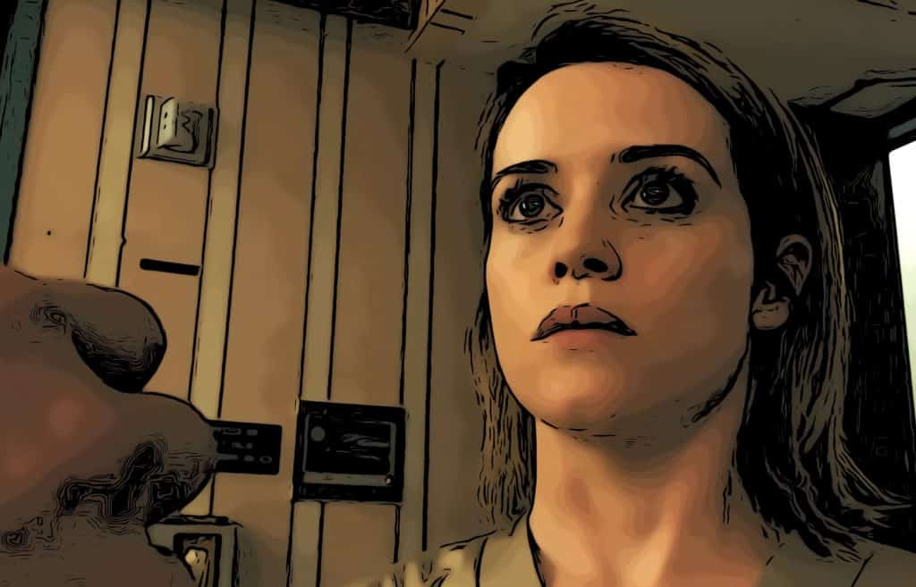 Scene from Unsane for best horror movies on Amazon Prime post.