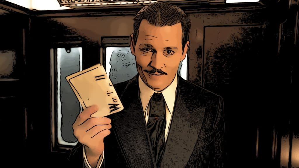 Jonny Depp in Murder On The Orient Express for best murder mystery movies post.
