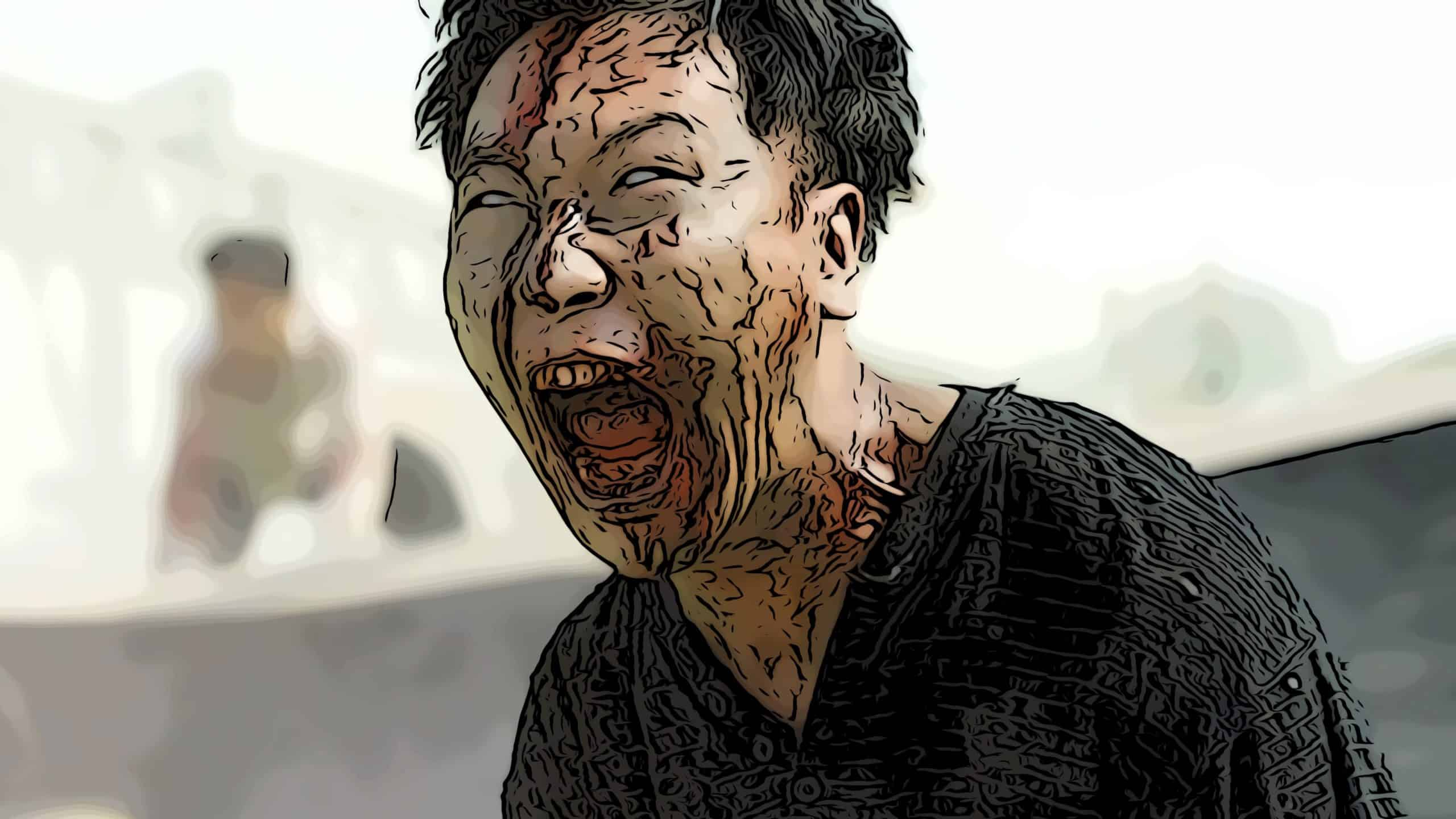 Scene from Train To Busan for zombie movies on Netflix post.