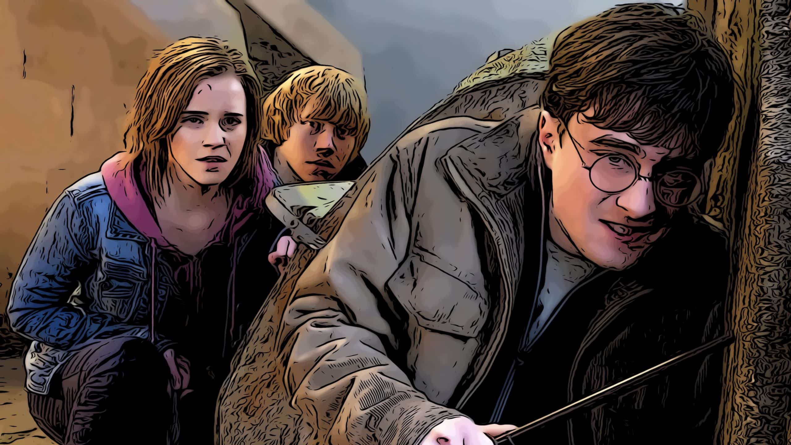Scene from Deathly Hallows part 2 for Harry Potter movies in order post.