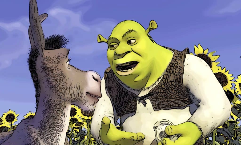 Scene from Shrek for most rewatchable movies post.