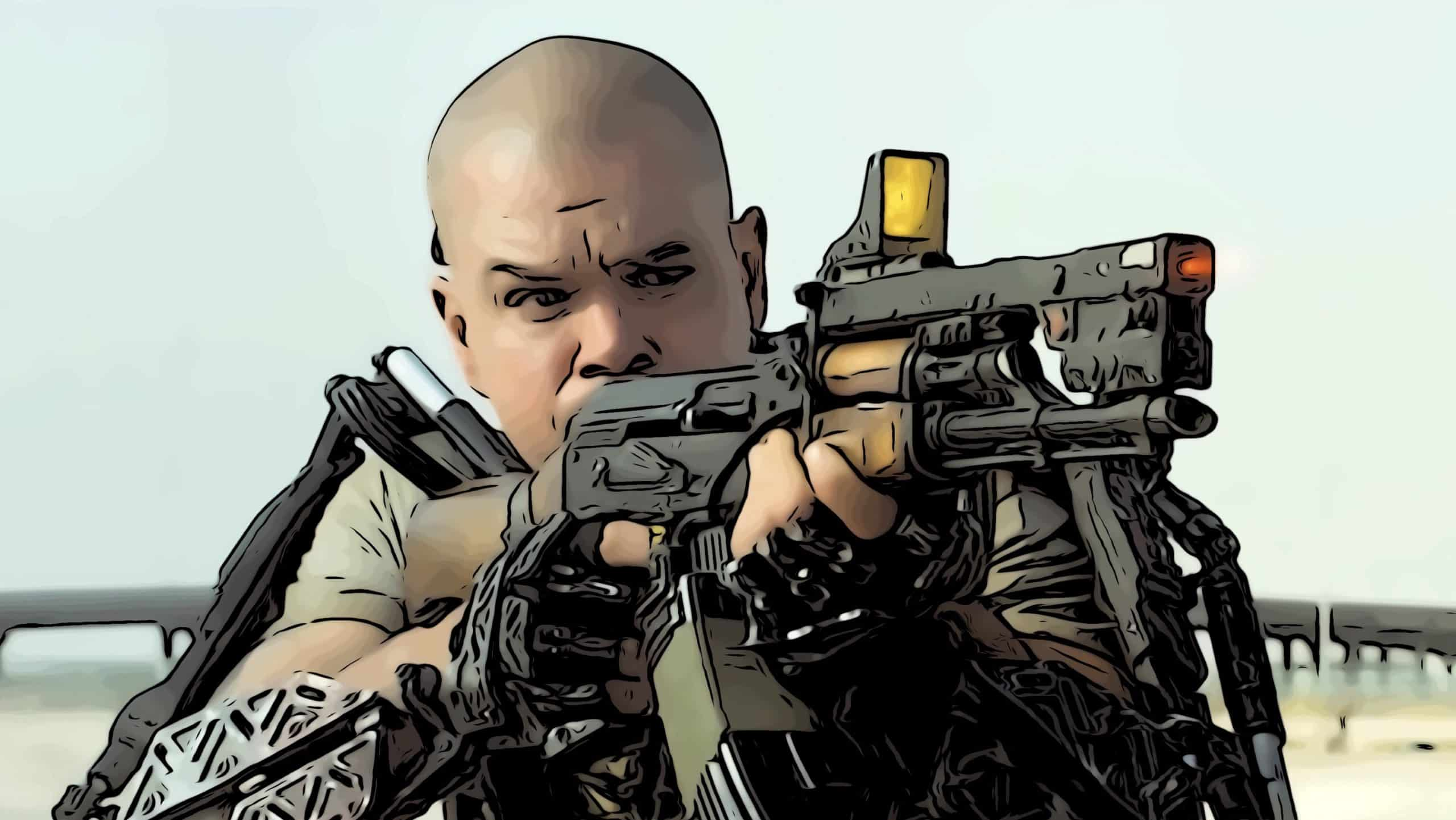 Scene from Elysium for movies like Bloodshot post.