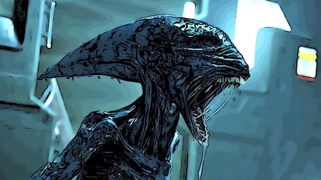 Scene from Prometheus for Alien movies in order post.