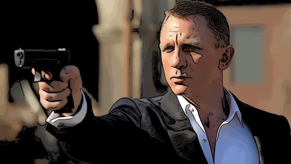 Scene from Skyfall for James Bond movies in order post.
