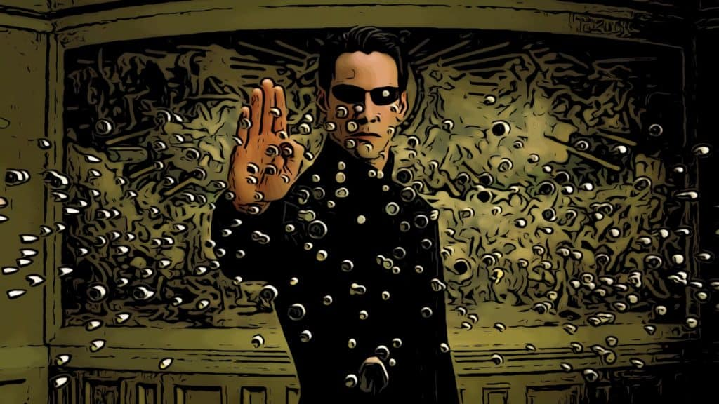 Scene from The Matrix Reloaded for Matrix movies in order post.