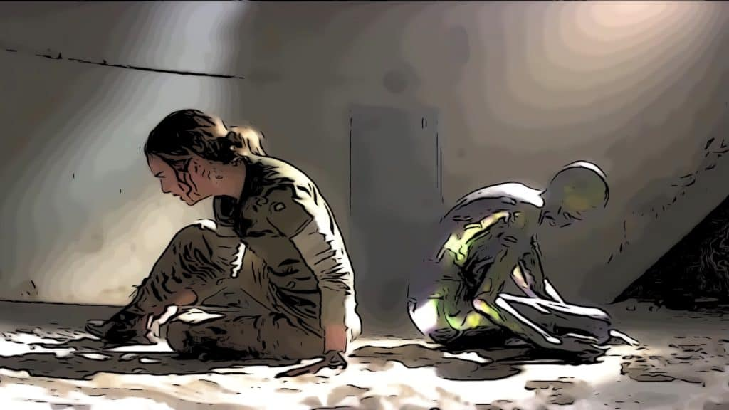 Scene from Annihilation for movies like Arrival post.