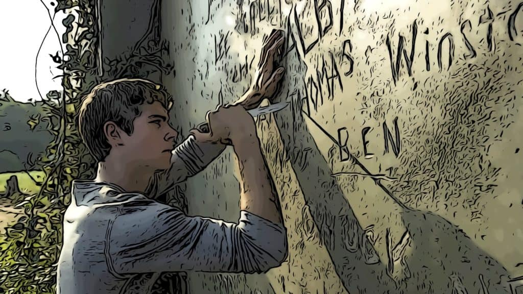 Scene from Maze Runner for movies like Hunger Games post.