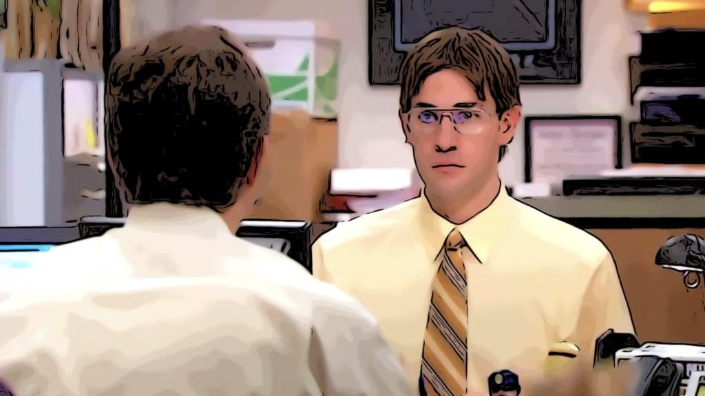 Scene from The Office for shows like Space Force post.