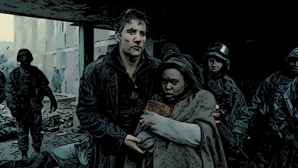 Scene from Children Of Men for movies about the end of the world post.